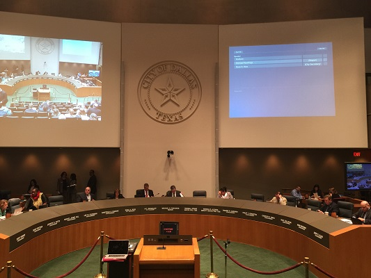 Dallas city council chambers